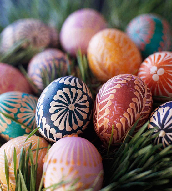 Ukrainian Folk Art of wax-and-dye egg