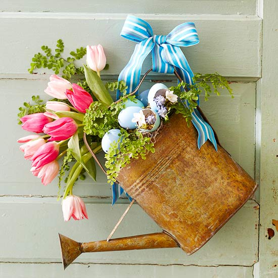 watering can spring display