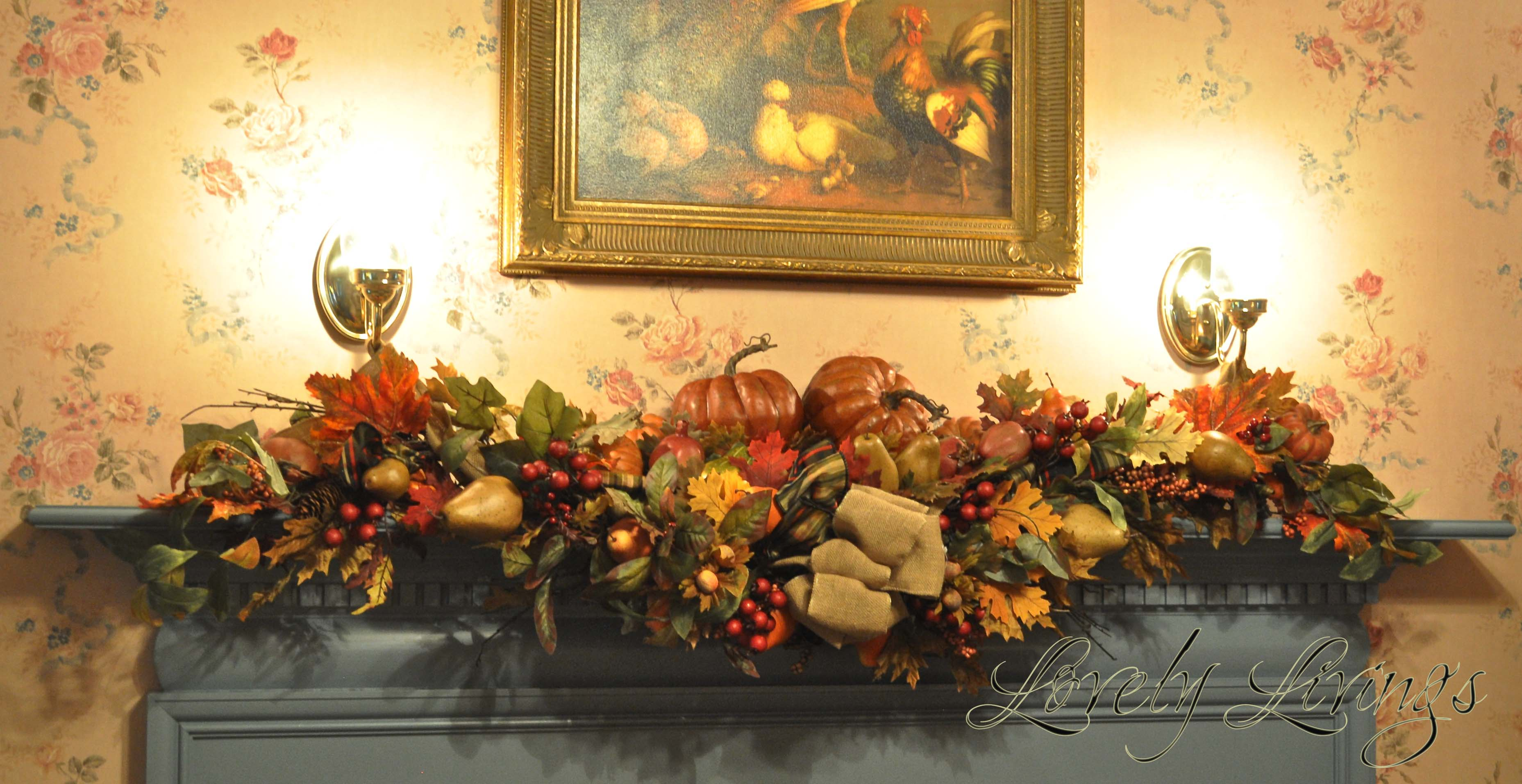 fall mantle arrangement photography - photo #47