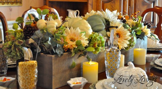 One More Time Events  Lovely Livings Fall Centerpiece
