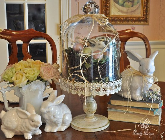 Easter Decorating ideas, decorating with cloches