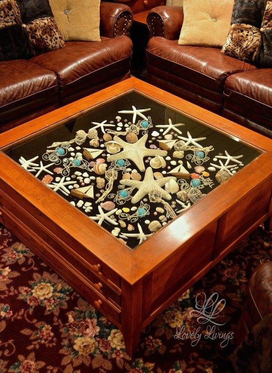 sea scape shadow box table |