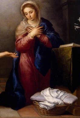 The Annunciation by Murillo, 1655–1660