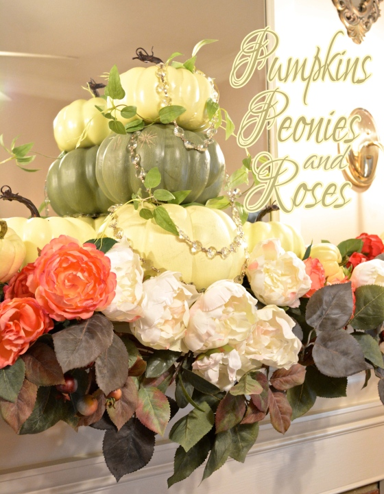 Pumpkins Peonies and Roses
