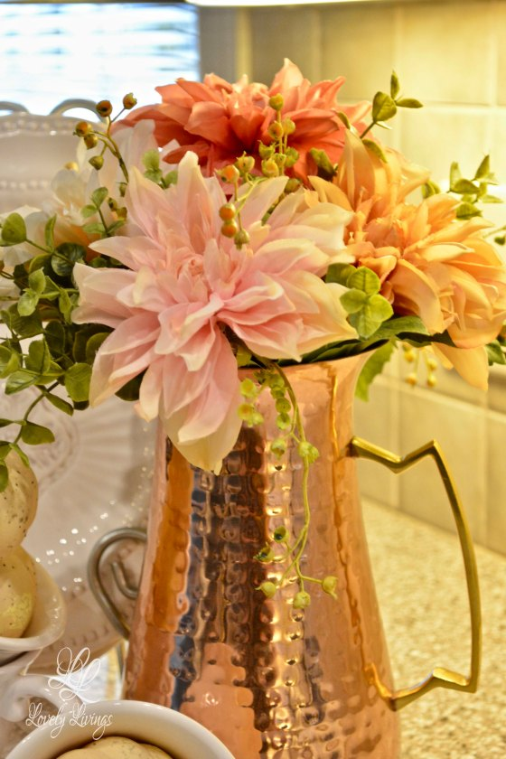 Autumn Floral Arrangement in Brass.