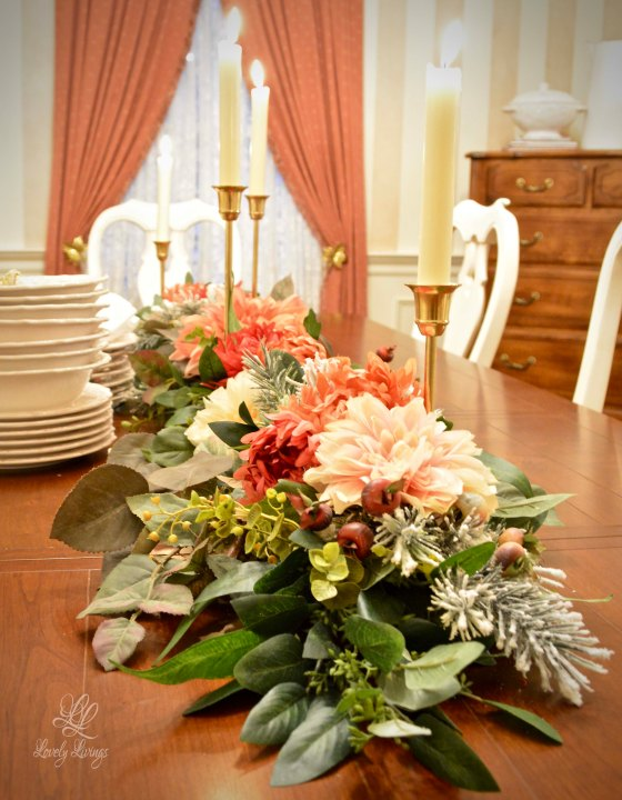 Winter Table Centerpiece